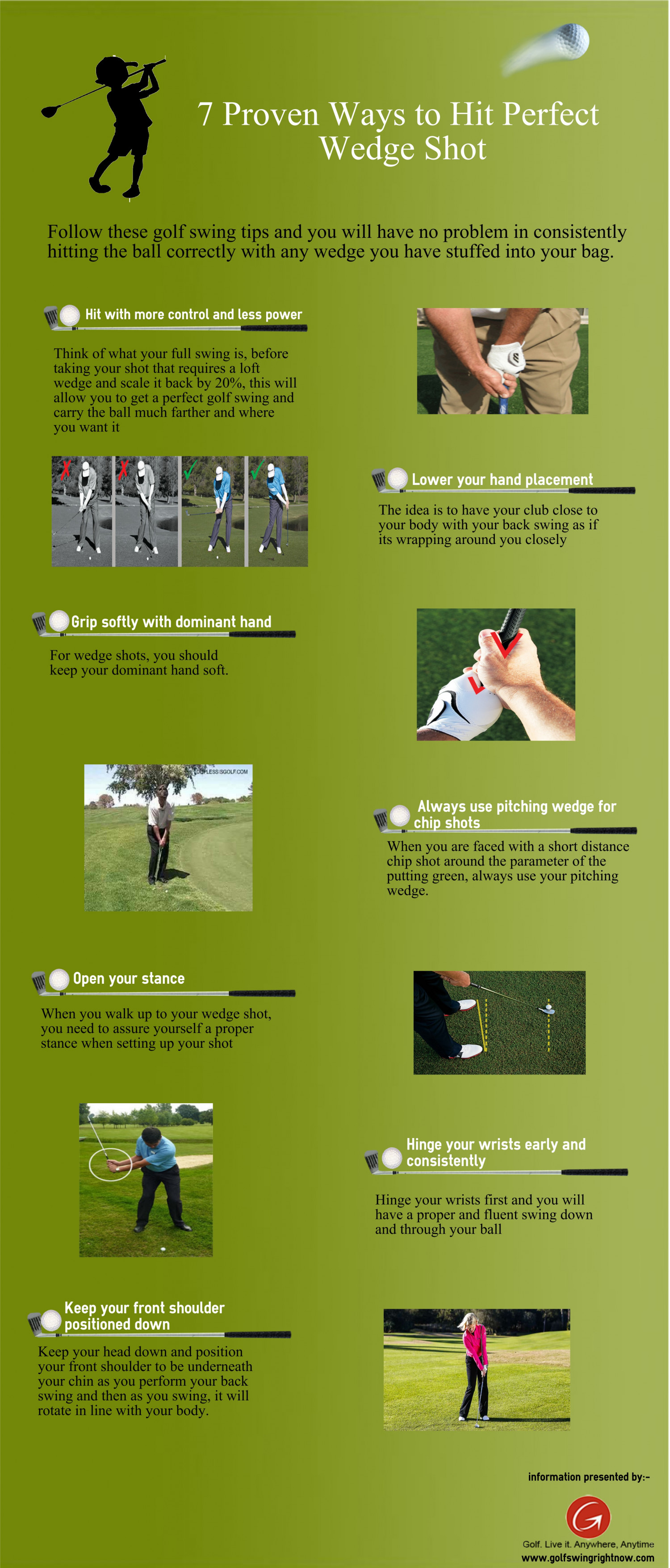 7 Proven Ways to Hit the Wedge Shot Infographic