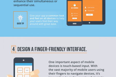 7 Quick Tips for a Better Mobile User Experience Infographic