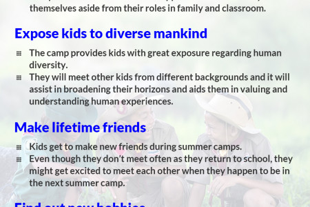 7 Reasons to Send Your Kids to Summer Camp Infographic