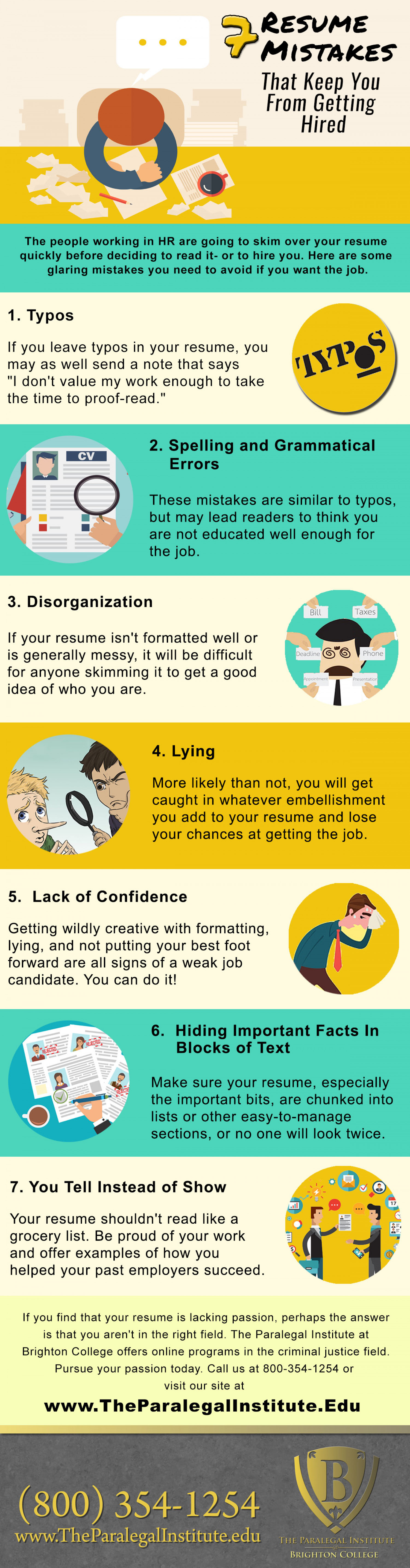 7 Resume Mistakes That Keep You From Getting Hired Infographic