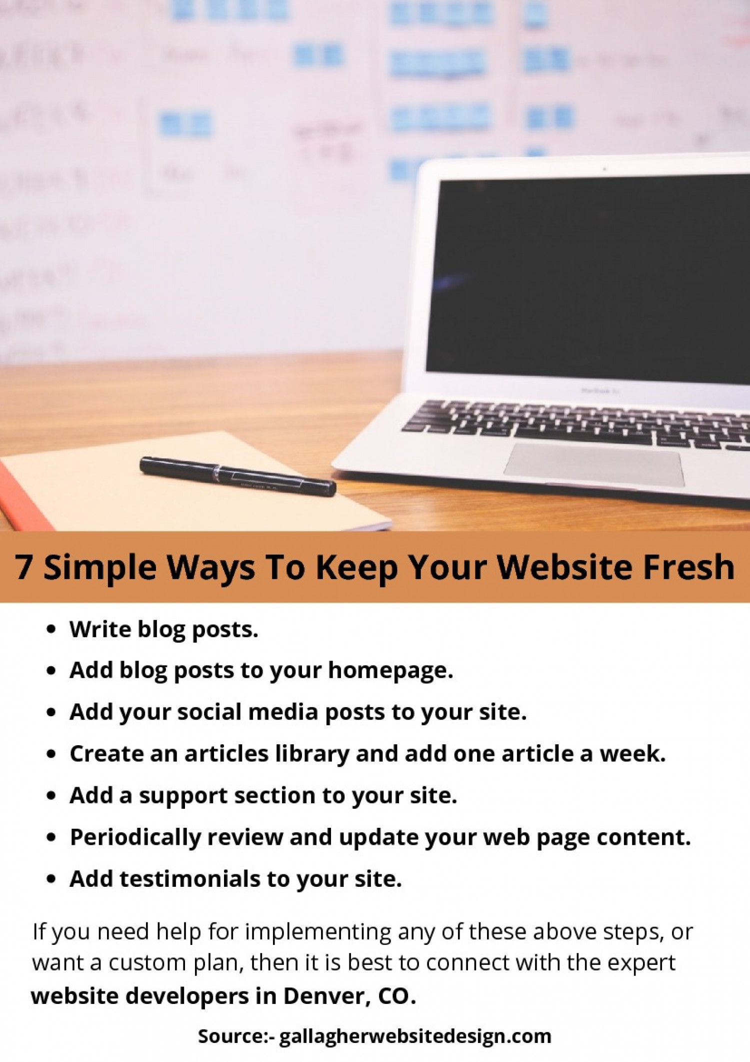 7 Simple Ways To Keep Your Website Fresh Infographic
