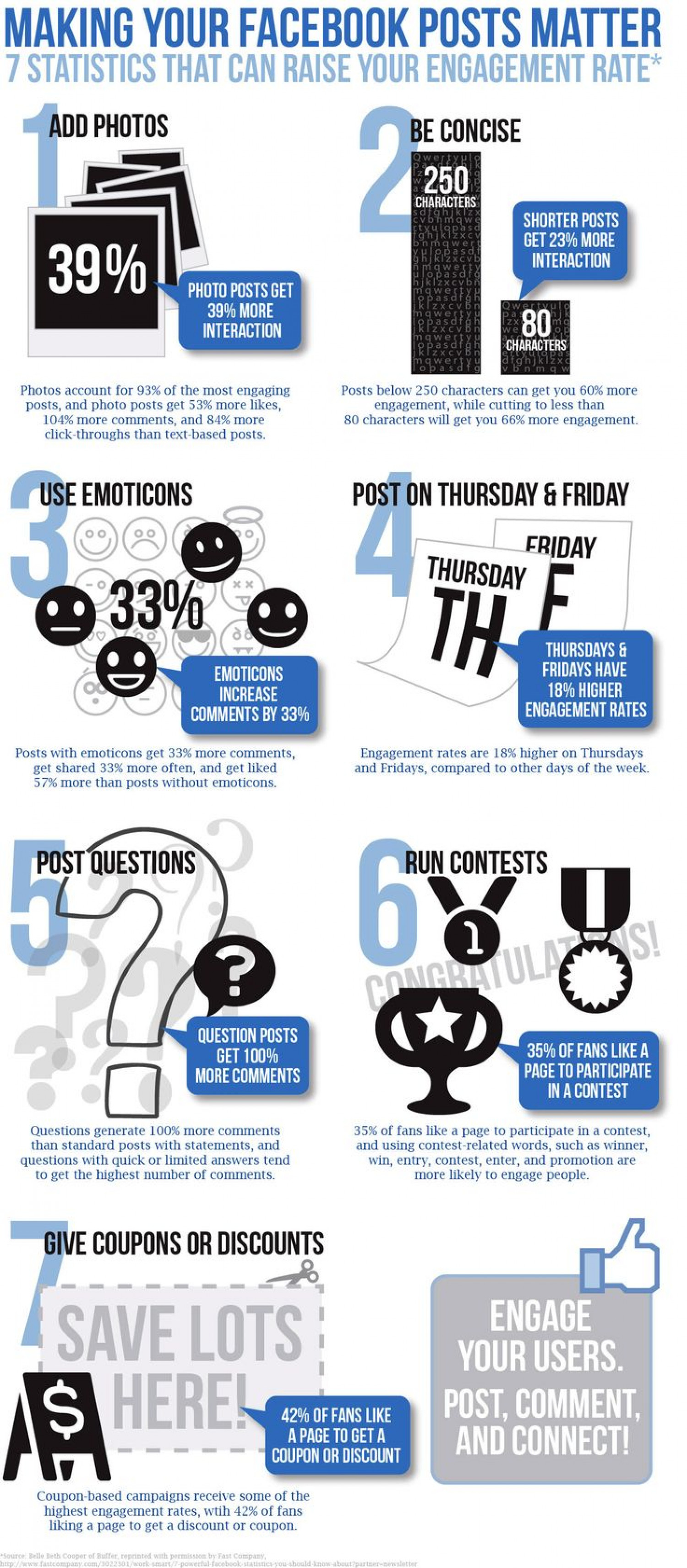 7 Statistics That Can Raise Your Facebook Engagement (Infographic) Infographic
