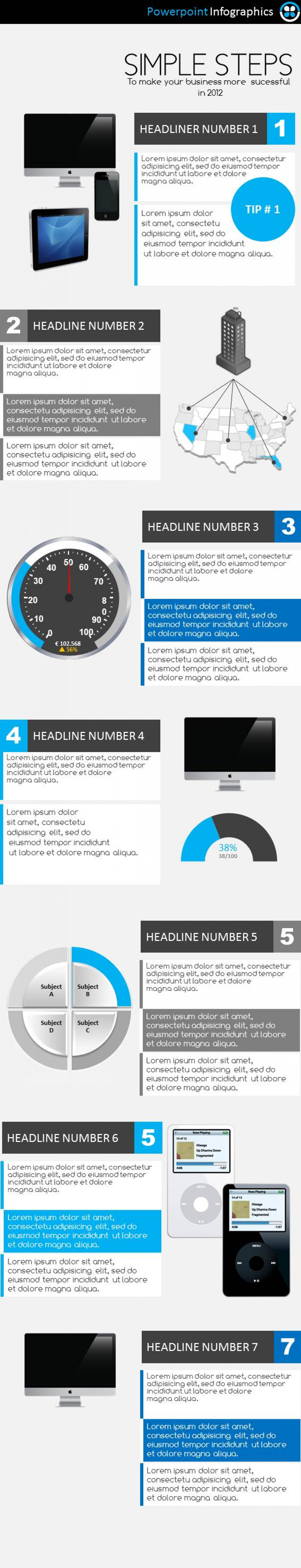 7 Steps infographic Infographic