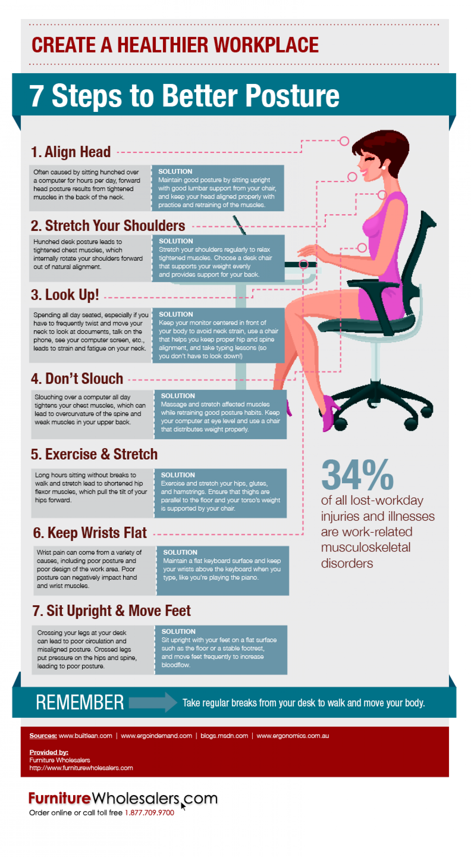 7 Steps To Better Posture Visual Ly
