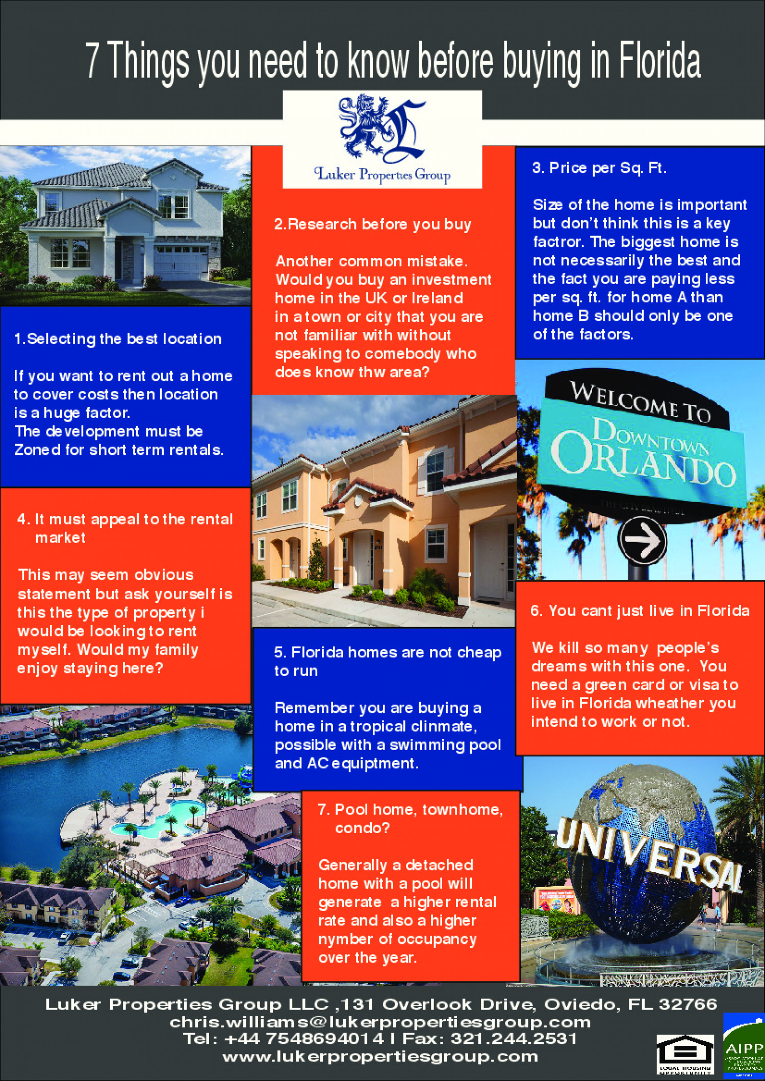 7 things about buying in Florida  Infographic