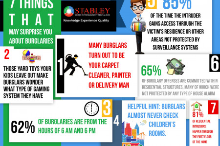 7 Things That May Surprise You About Burglaries Infographic