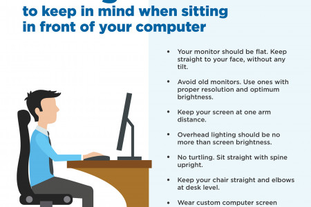 7 Things to Keep in Mind When Sitting in Front of Your Computer Infographic