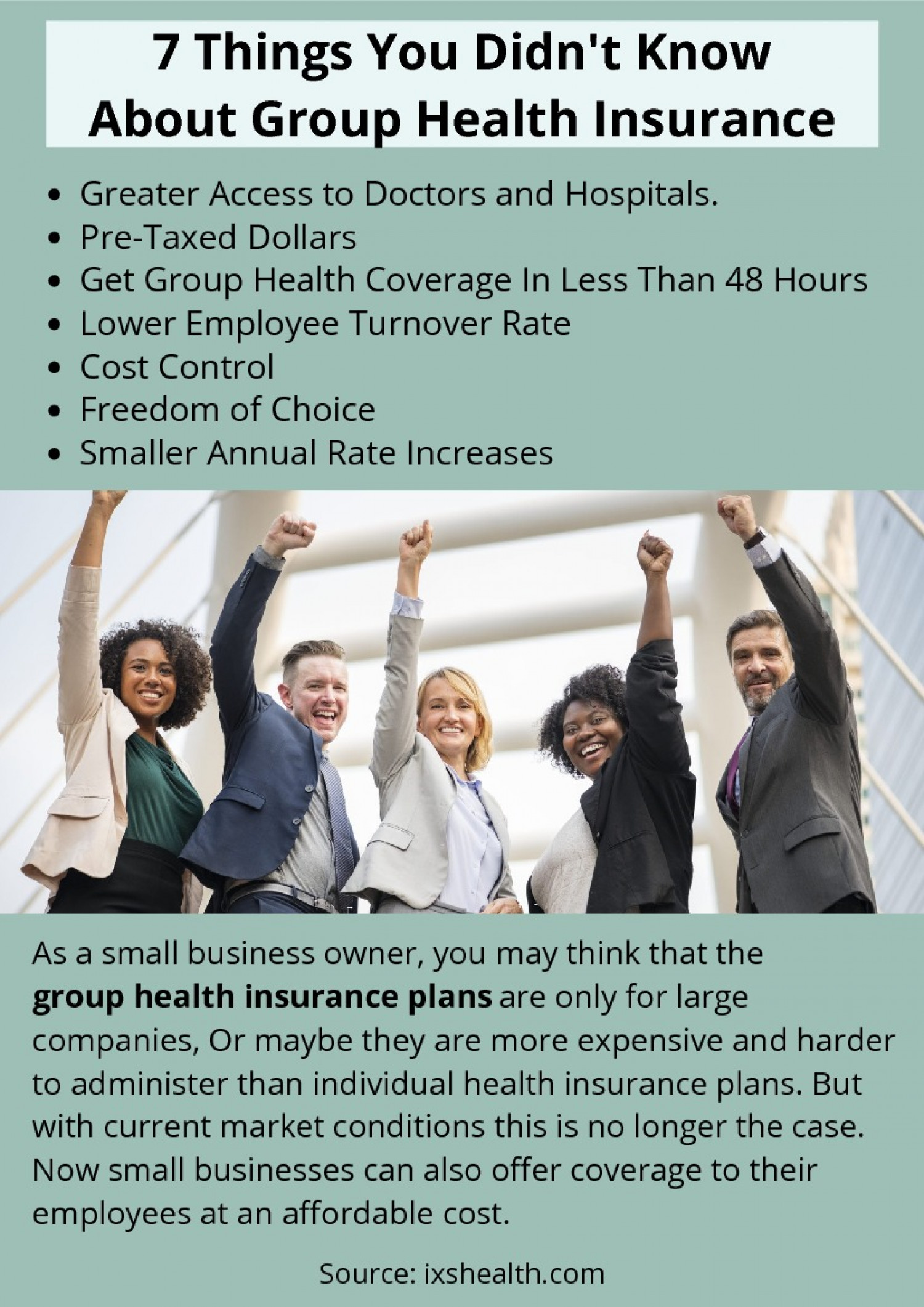 7 Things You Didn't Know About Group Health Insurance Infographic