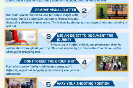 7 Tips For Great Vacation Photographs Infographic