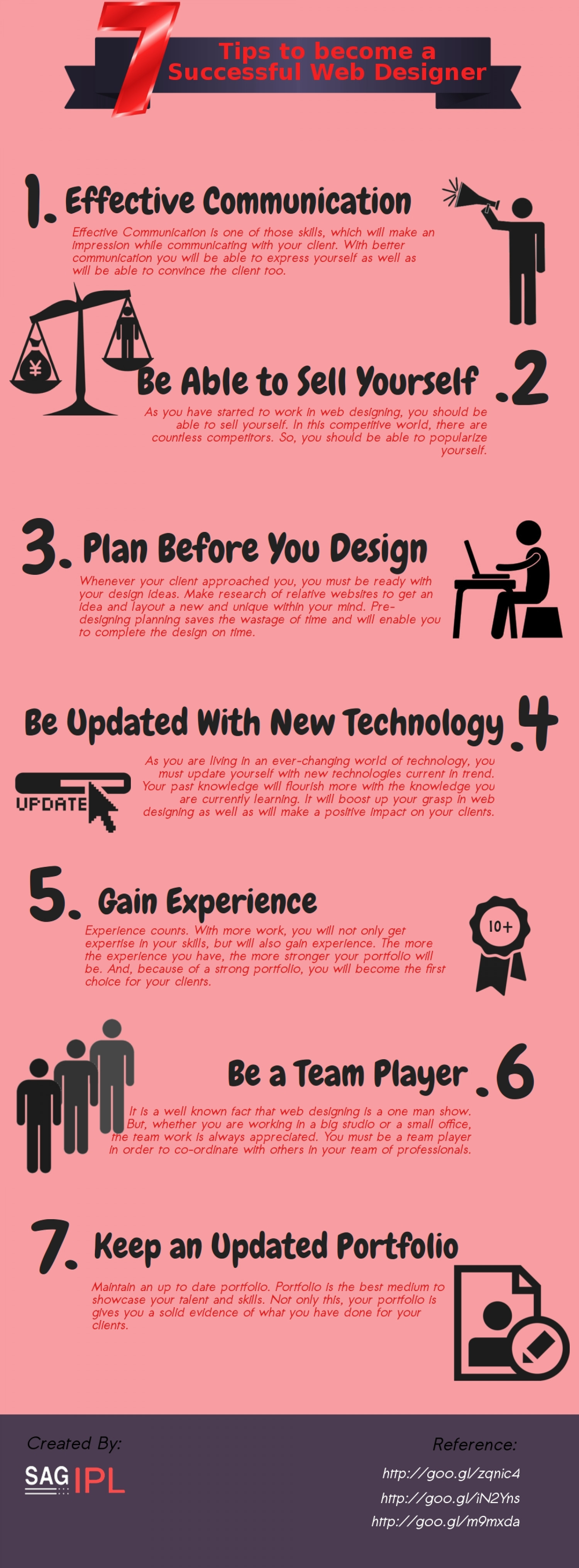 7 Tips to Become A Successful Web Designer  Infographic