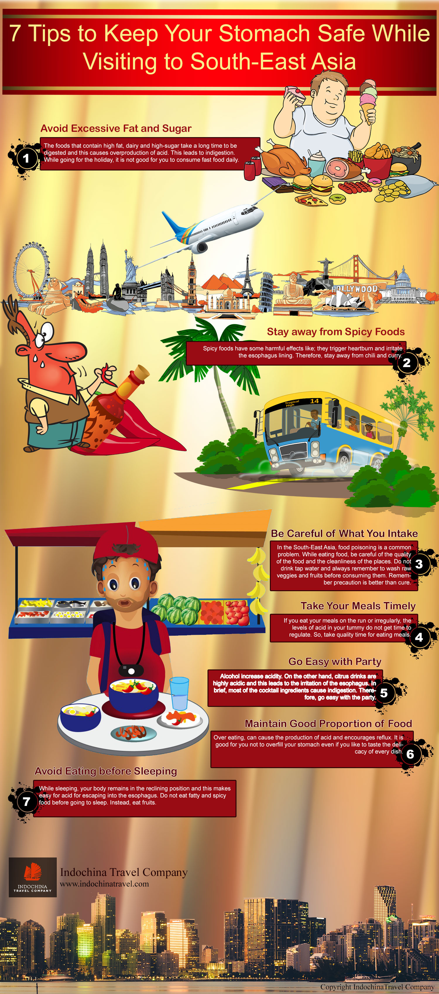 7 Tips to Keep Your Stomach Safe While Visiting to South-East Asia Infographic