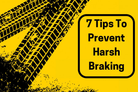 7 Tips To Prevent Harsh Braking Infographic