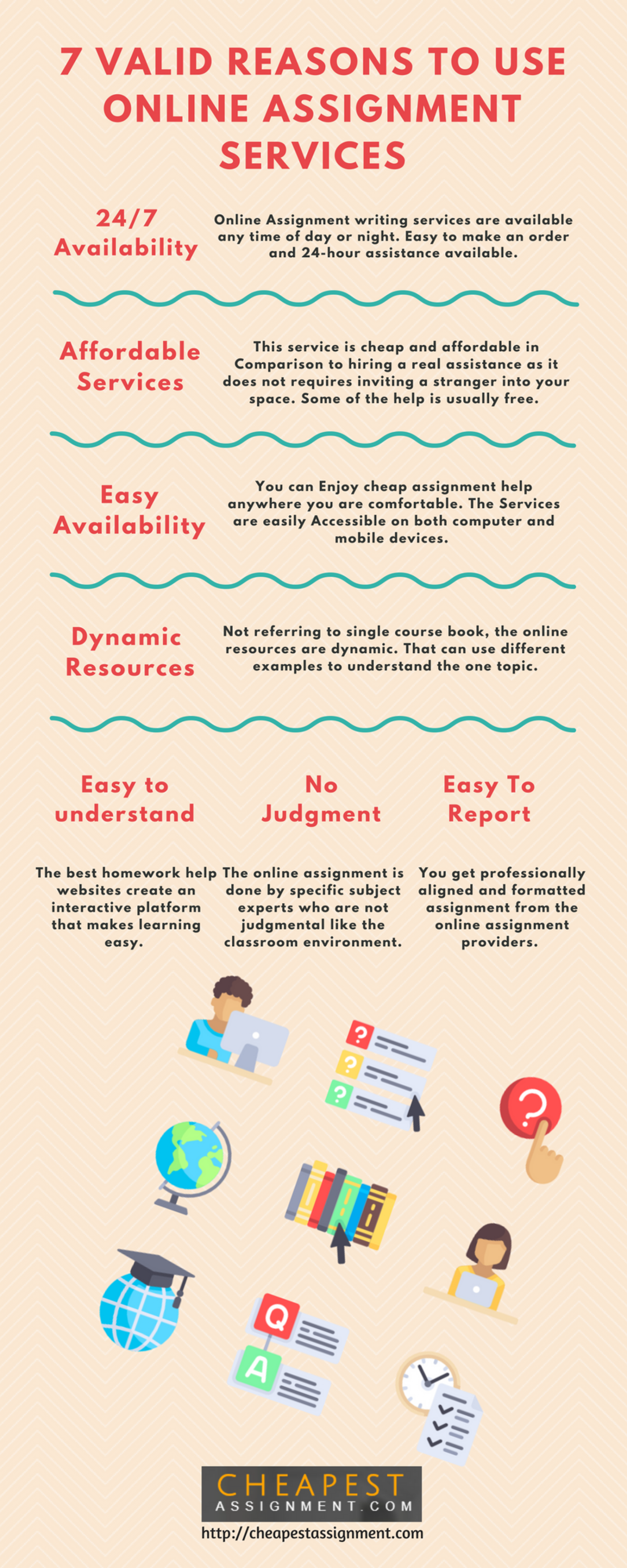 7 VALID REASONS TO USE ONLINE ASSIGNMENT SERVICES Infographic