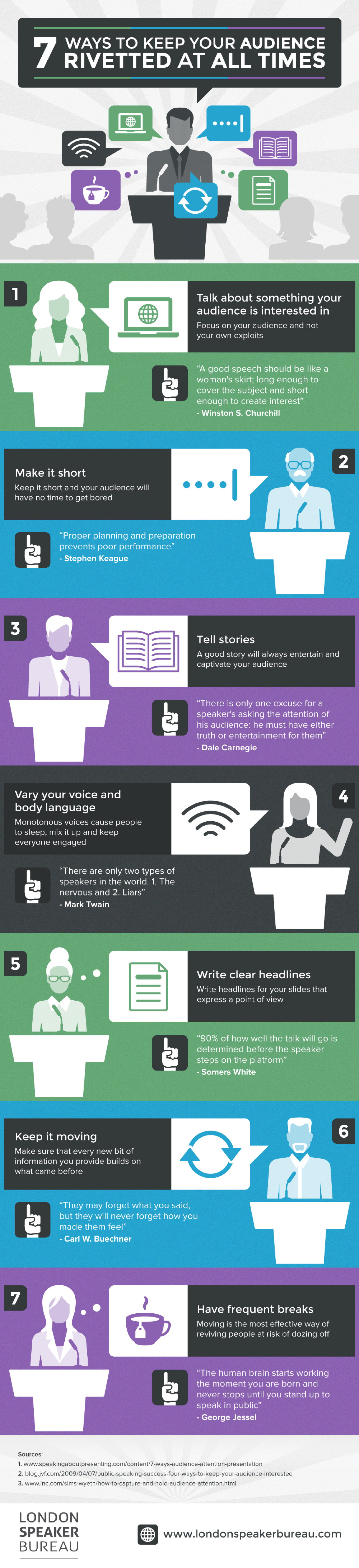 7 Ways to Keep Your Audience Riveted at All Times Infographic