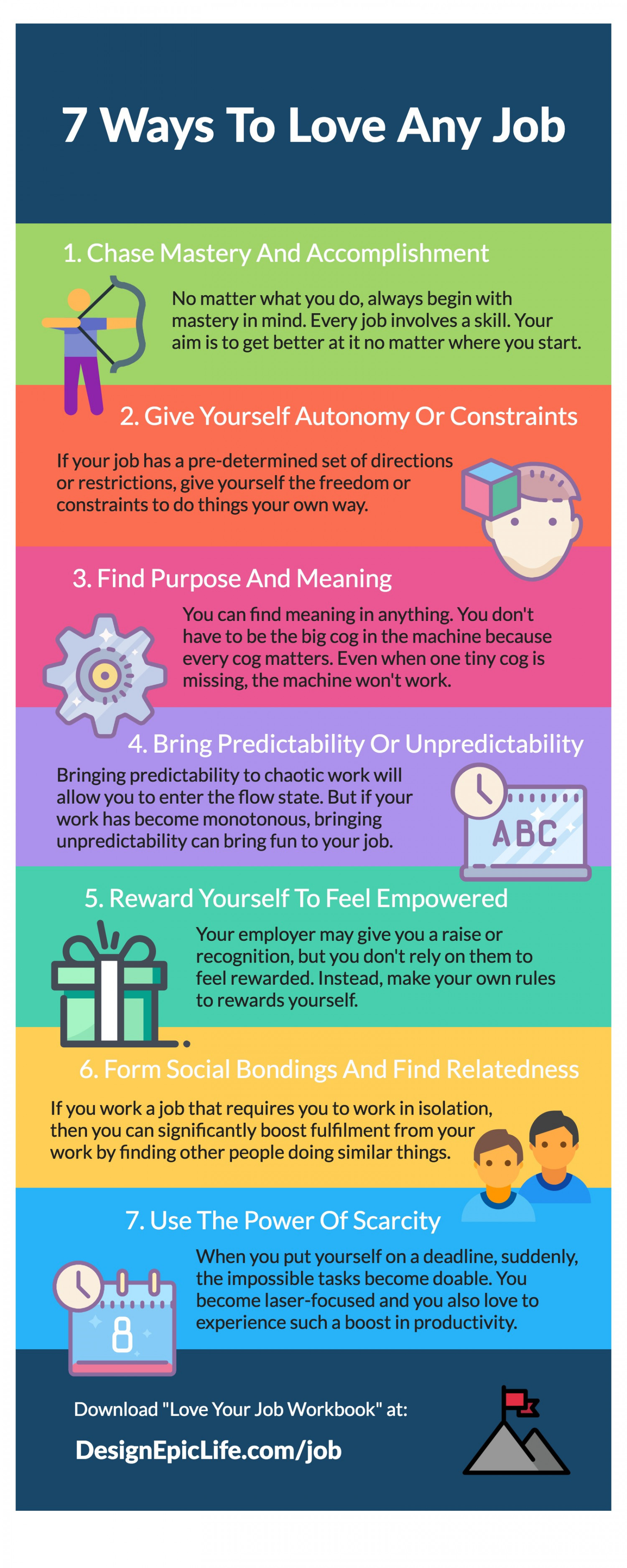 7 Ways To Love Any Job Infographic