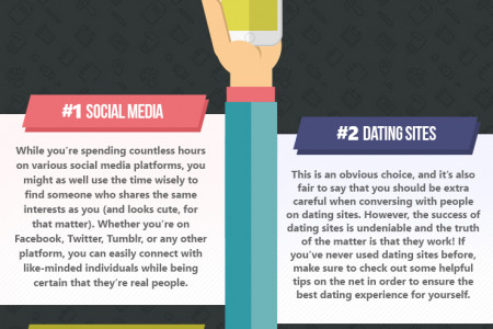 7 Ways to Meet Awesome Real Singles Online Infographic