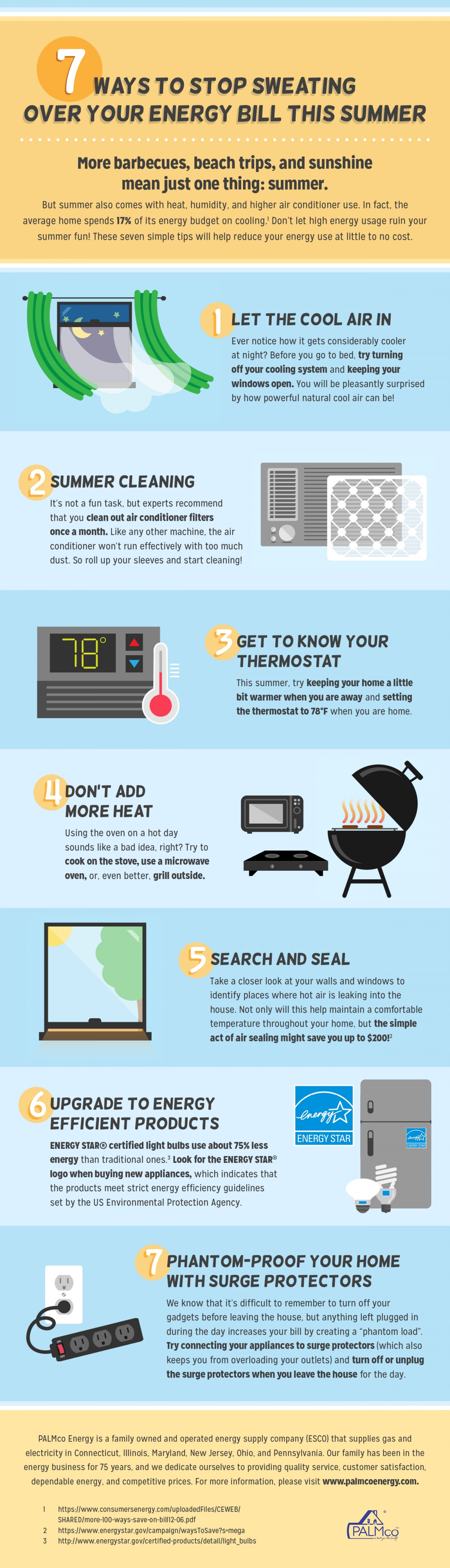 7 Ways to Stop Sweating Over Your Energy Bill This Summer Infographic