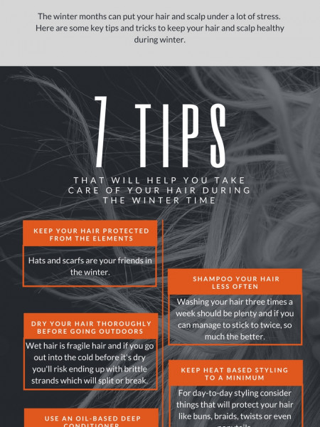 7 Winter Hair Care Tips Infographic