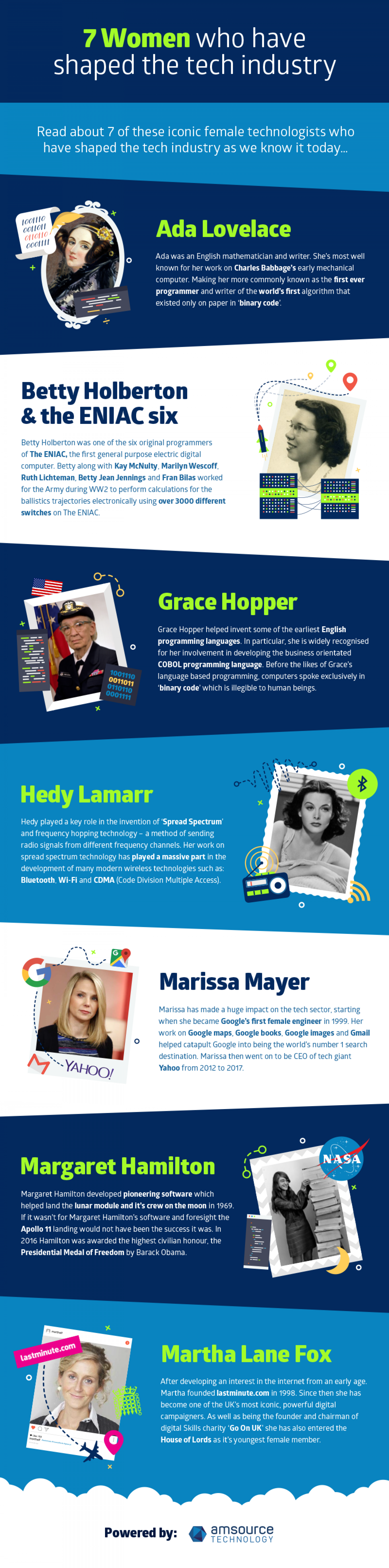 7 Women Who Have Shaped The Technology Industry Infographic