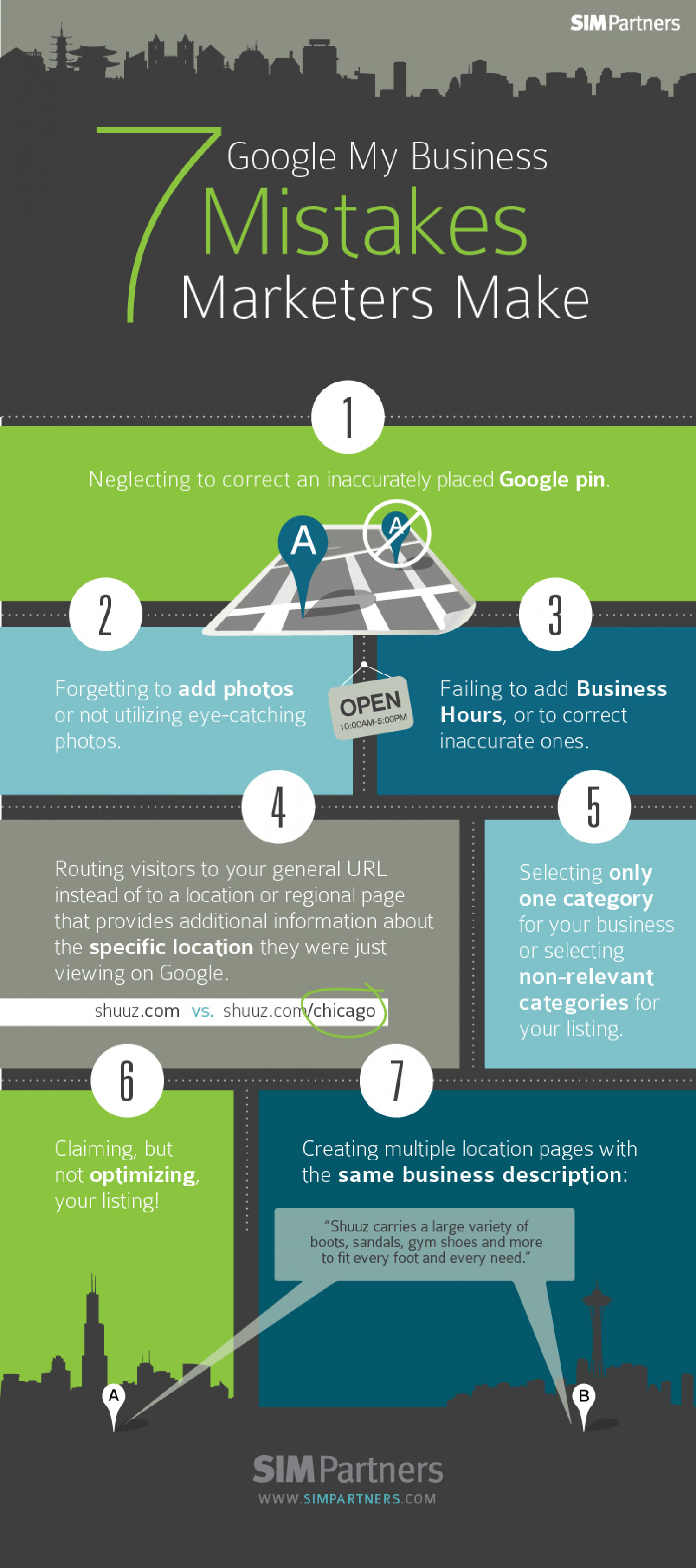 7 Google+ Local Mistakes Marketers Make Infographic