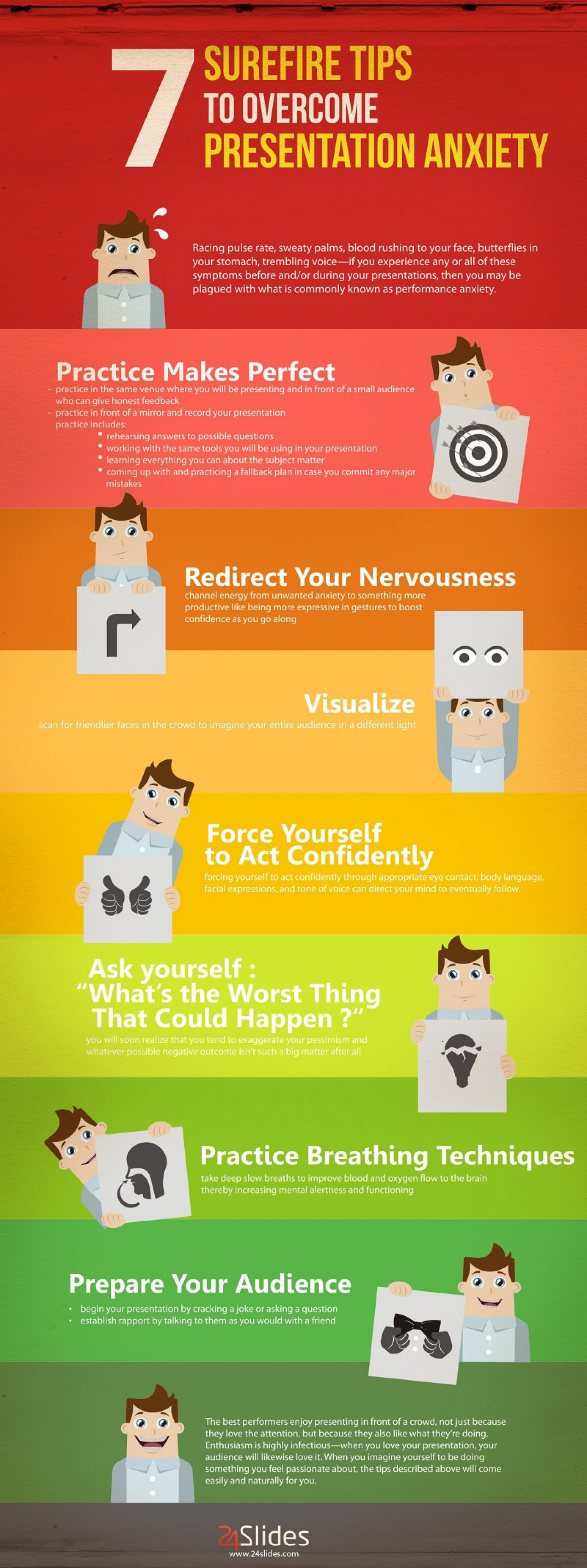 7 Surefire Tips to Overcome Presentation Anxiety | Visual.ly