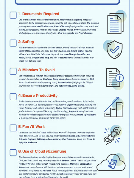 7-Point Checklist For Smooth Tax Season Infographic