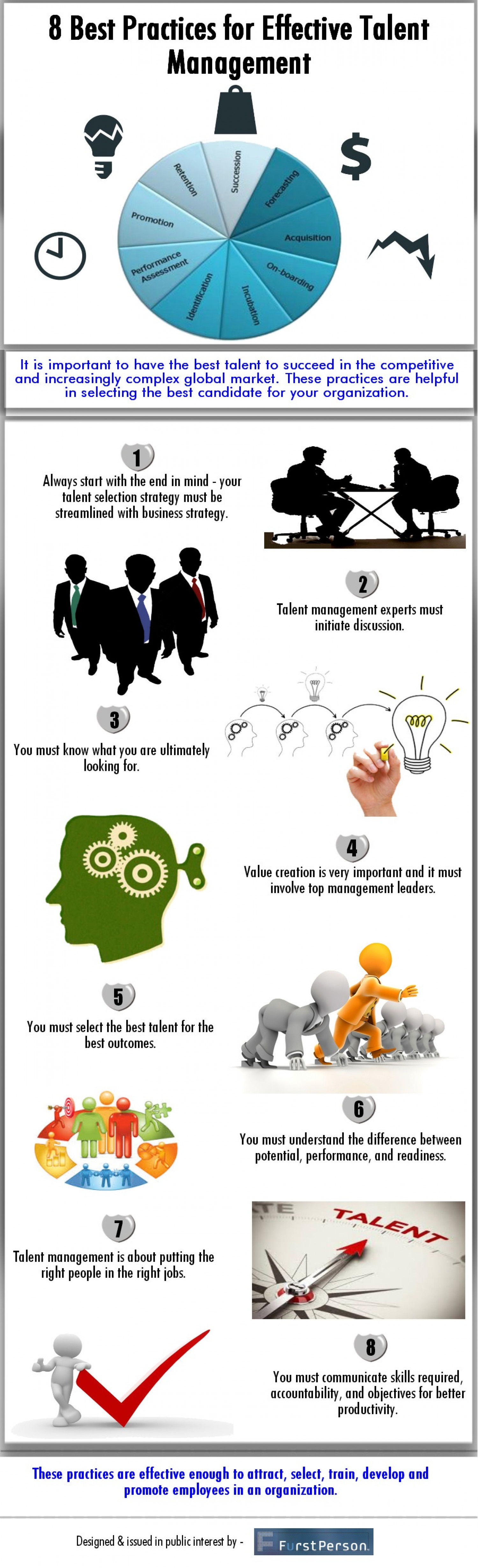 8 Best Practices for Effective Talent Management Infographic