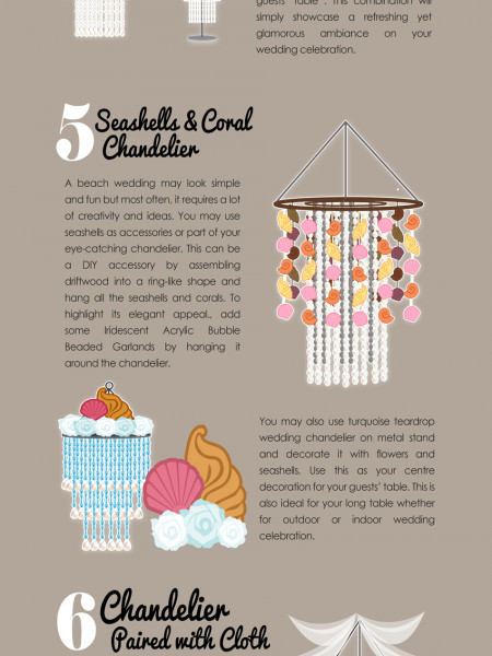 8 Chandelier Decoration Ideas for Wedding Infographic