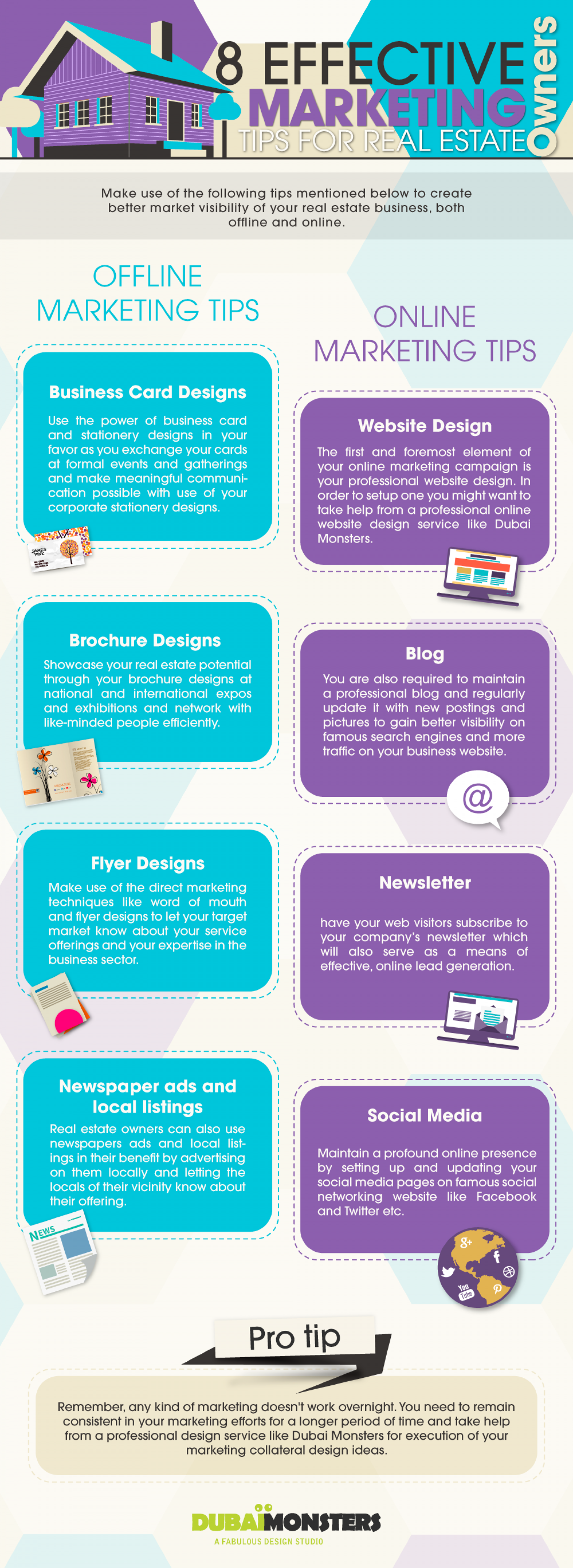 8 Effective Marketing Tips for Real Estate Owners Infographic