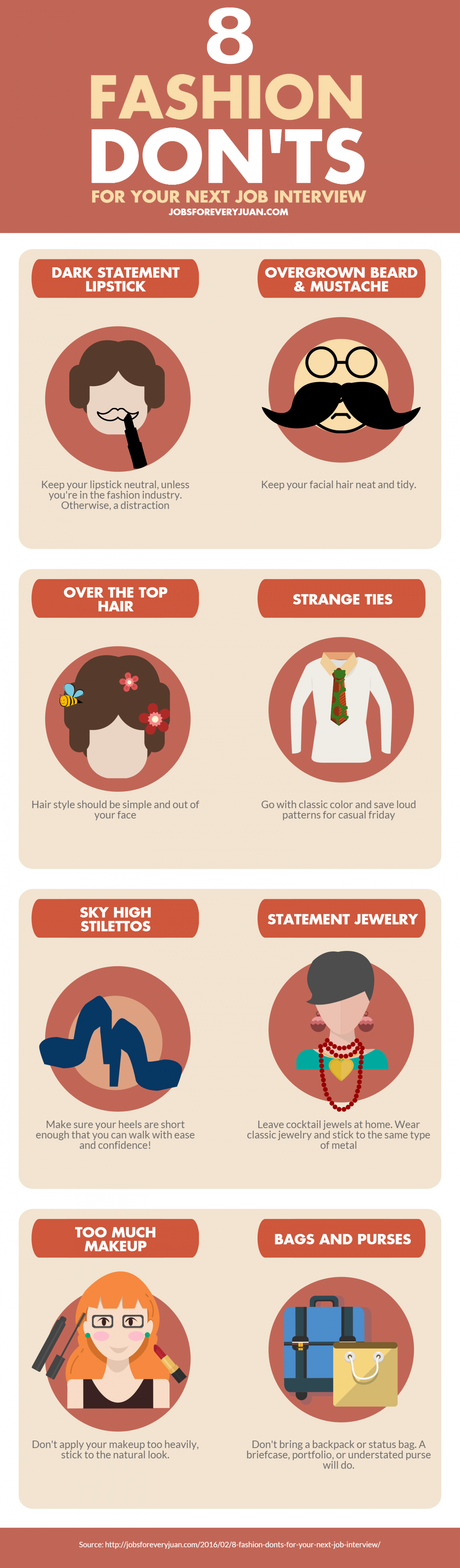 8 Fashion Donu0027ts For Your Next Job Interview Infographic