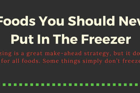 8 food you should never put in freezer Infographic