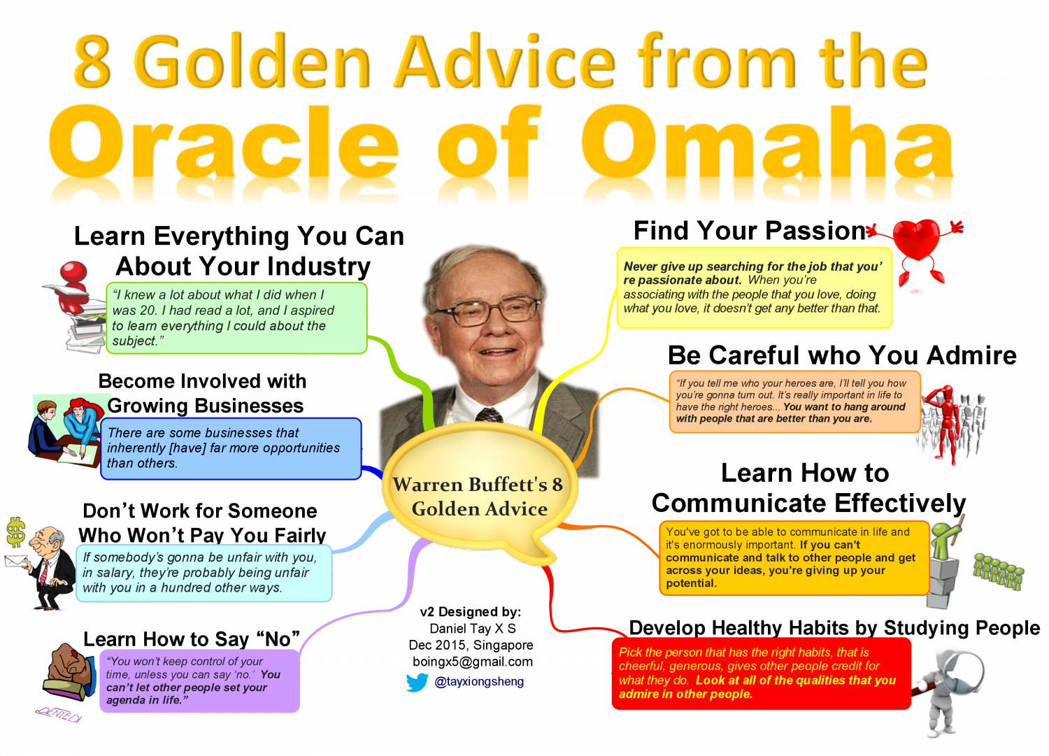 8 Golden Advice from Warren Buffett Infographic