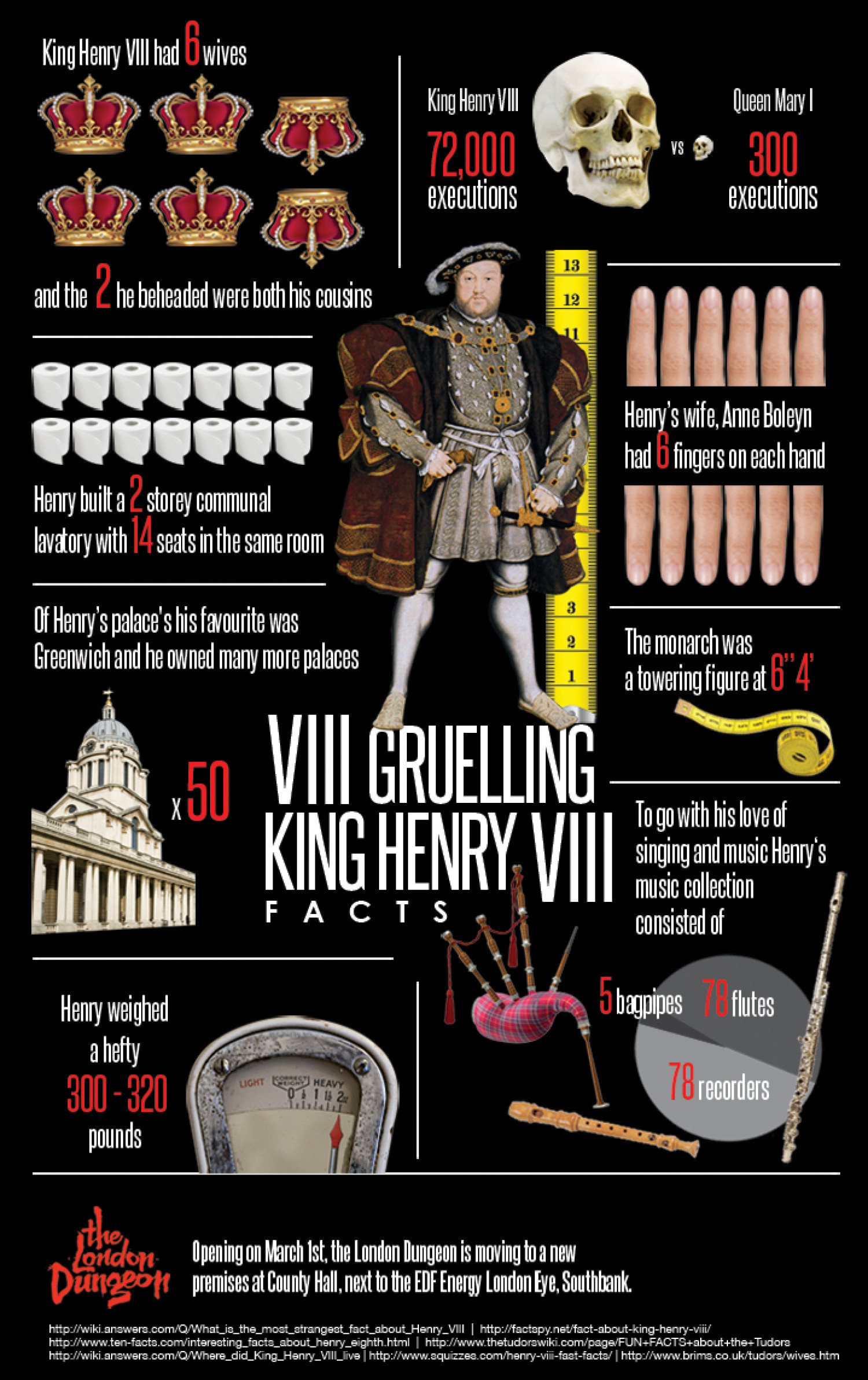 8 Gruelling King Henry VIII Facts  Infographic