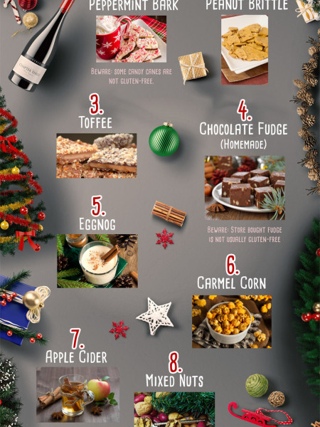 8 Holiday Treats That Are Already Gluten-Free Infographic