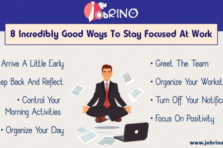 8 incredibly good ways to stay focused at work | Jobrino Infographic