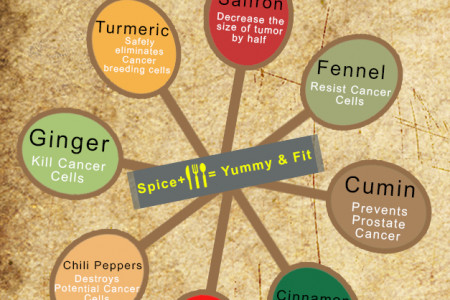 8 Indian Spices That Prevent Cancer Infographic