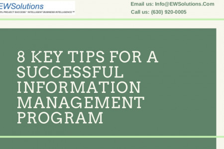 8 Key Tips For A Successful Information Management Program Infographic