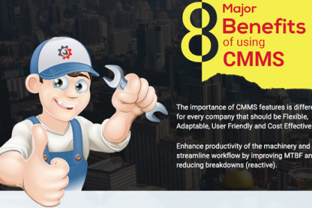 8 Major Benefits of using Cloud CMMS Infographic