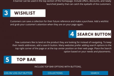 8 Must-have features for an online Jewelry Store Infographic