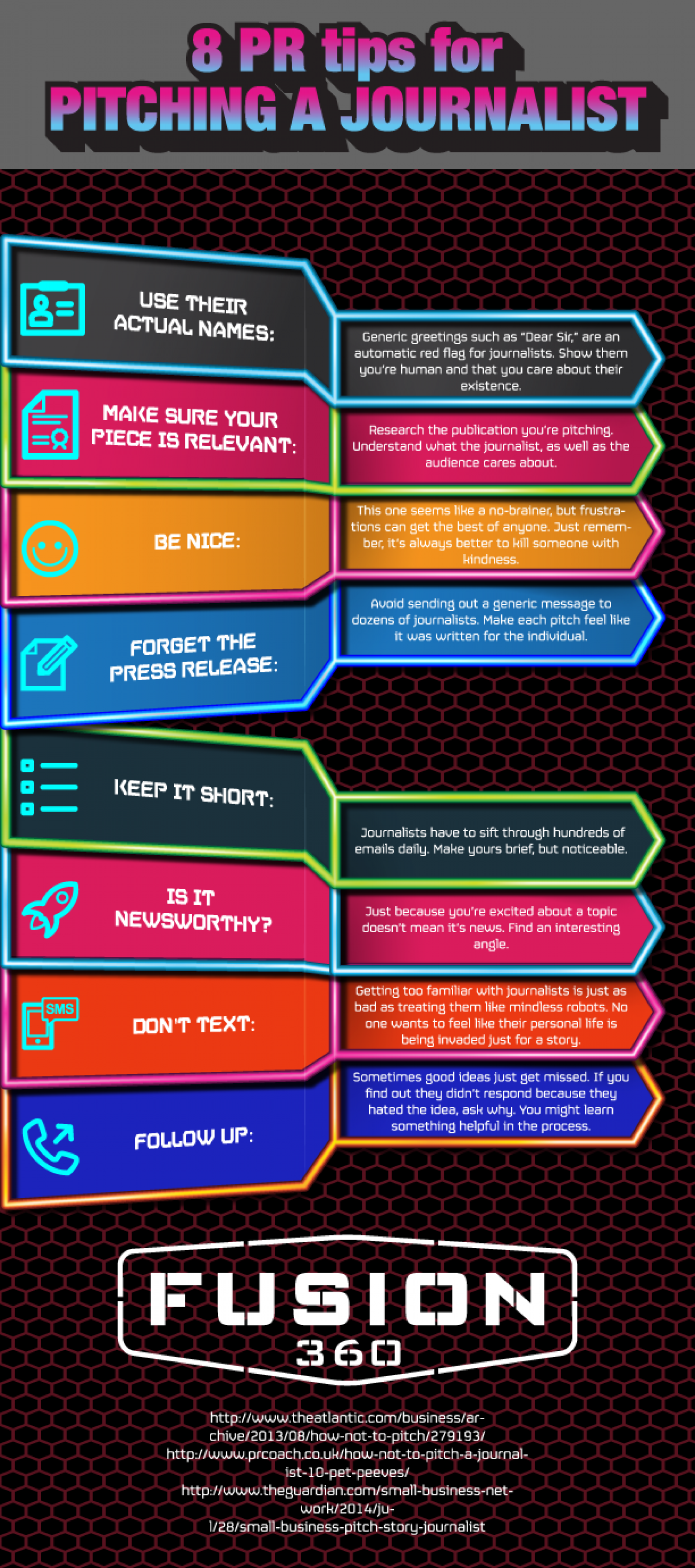 8 PR Tips for Pitching a Journalist Infographic