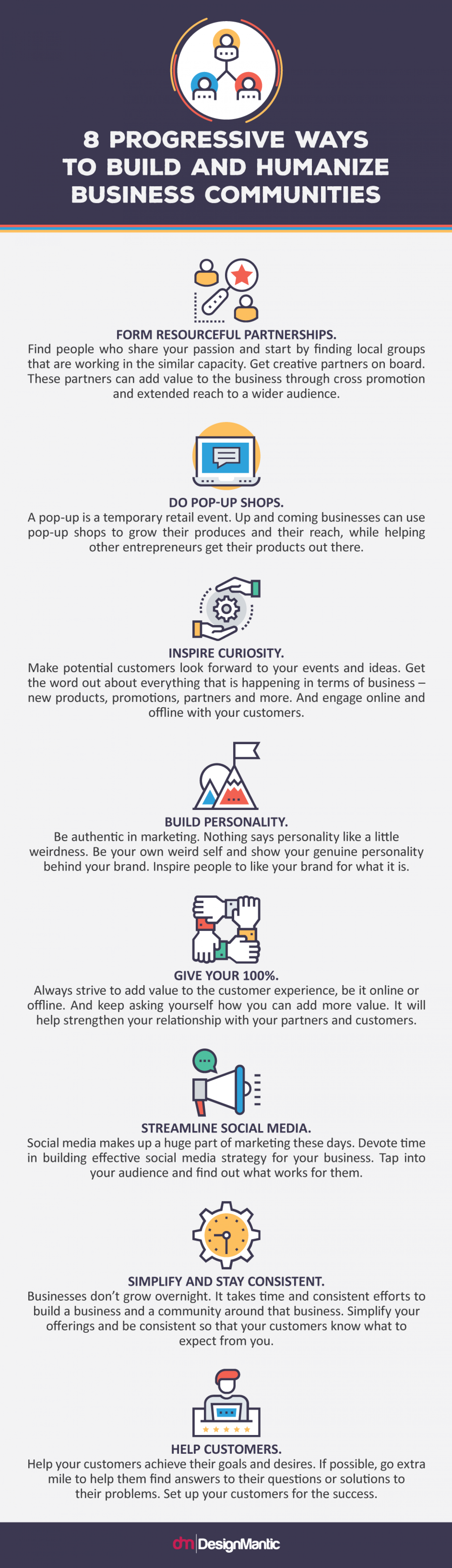 8 Progressive Ways To Build and Humanize Business Communities! Infographic