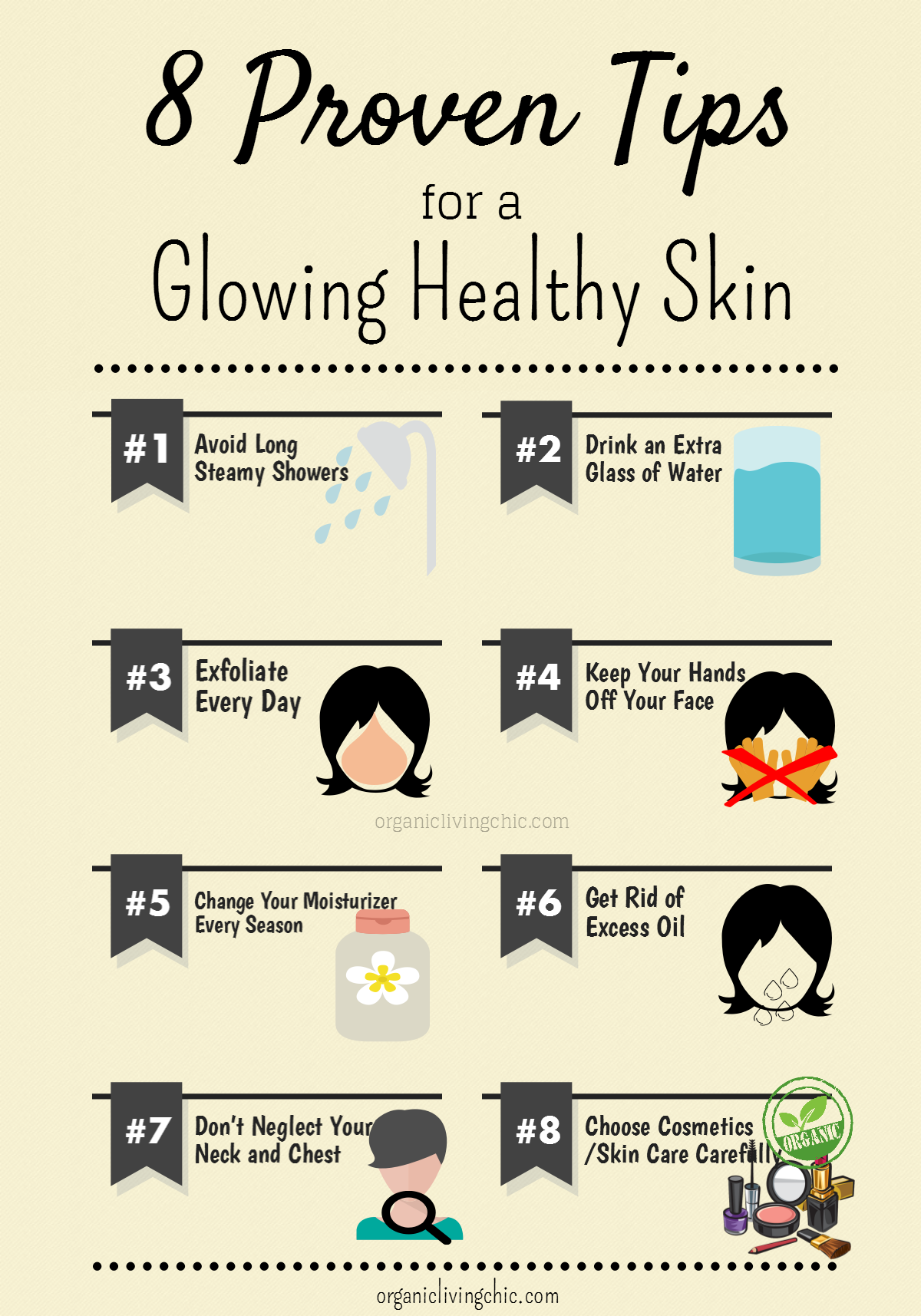 9 Proven Tips for a Glowing Healthy Skin  Visual.ly