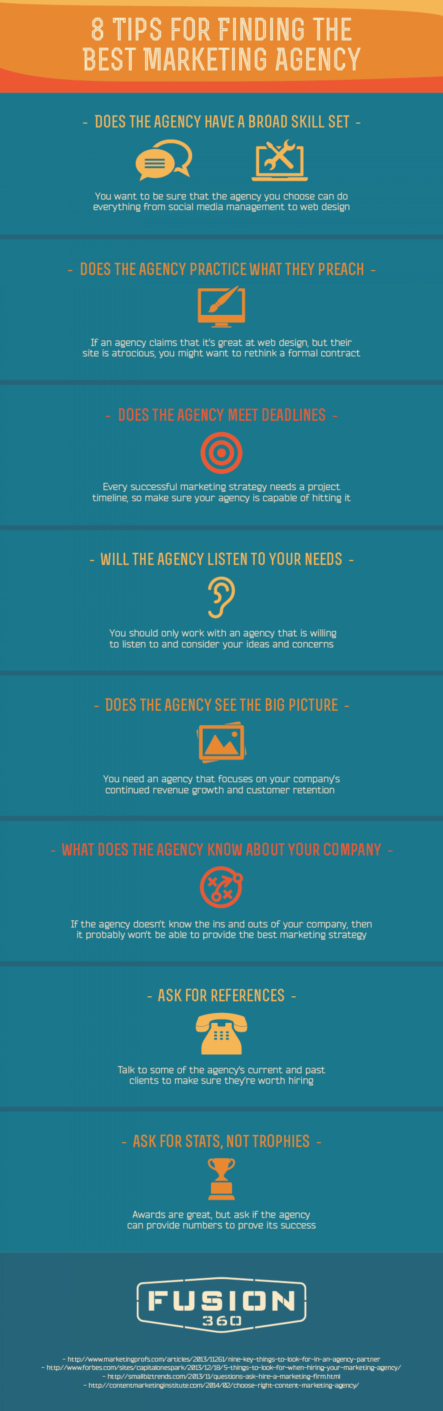 8 Questions to Ask Before Working With a Marketing Agency Infographic