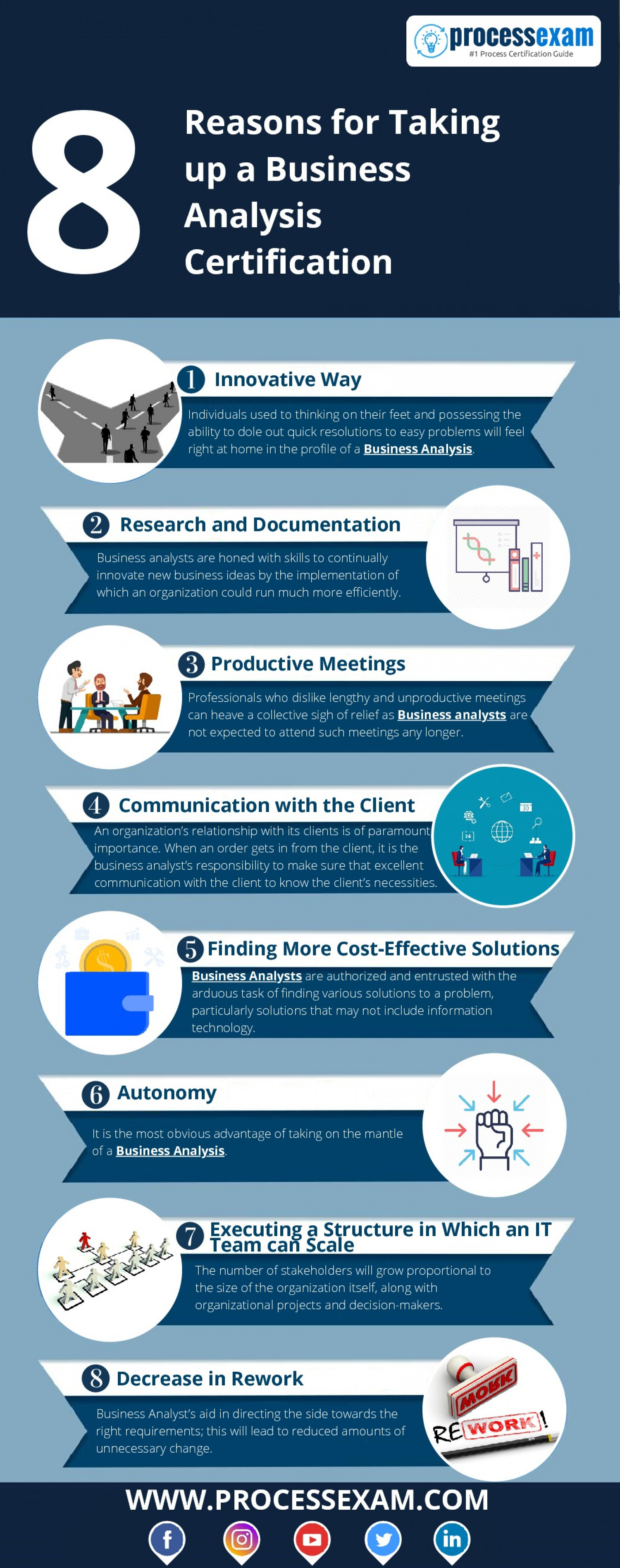 8 Reasons for Taking up a Business Analysis Certification Infographic