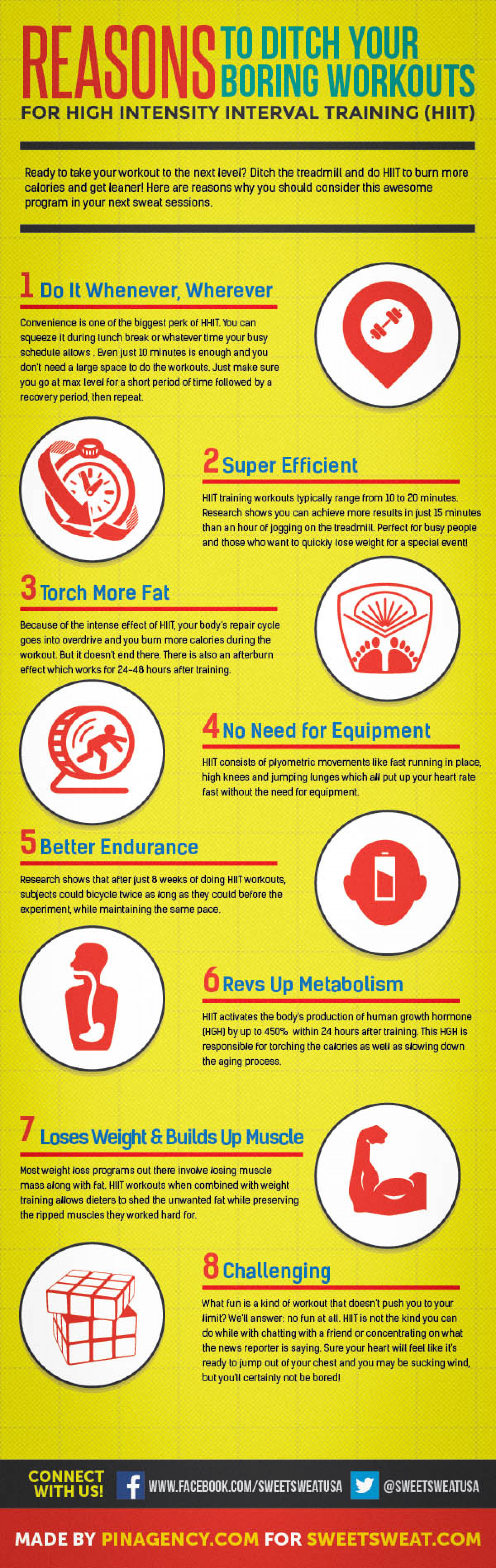 Reasons to Ditch Your Boring Workouts Infographic