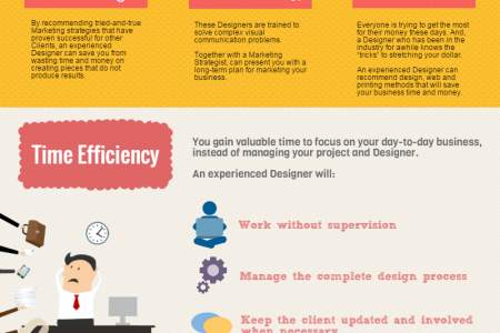 8 Reasons to Hire an Experienced Designer Infographic