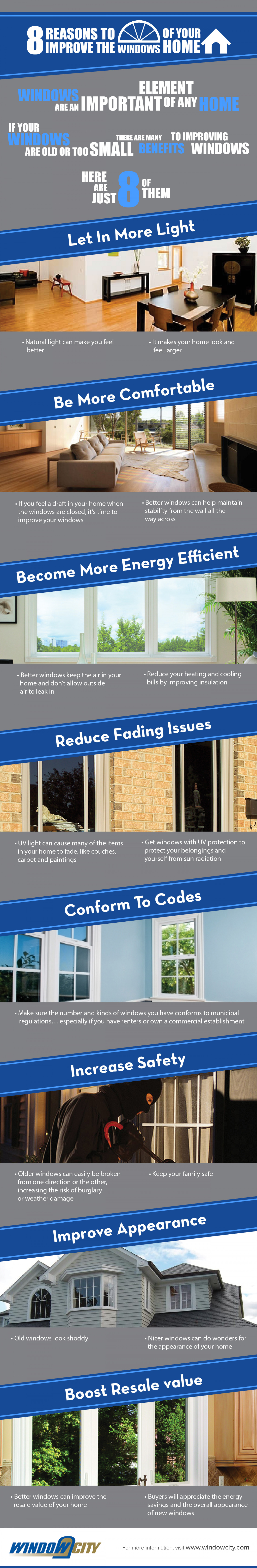 8 Reasons to Improve the Windows of Your Home Infographic