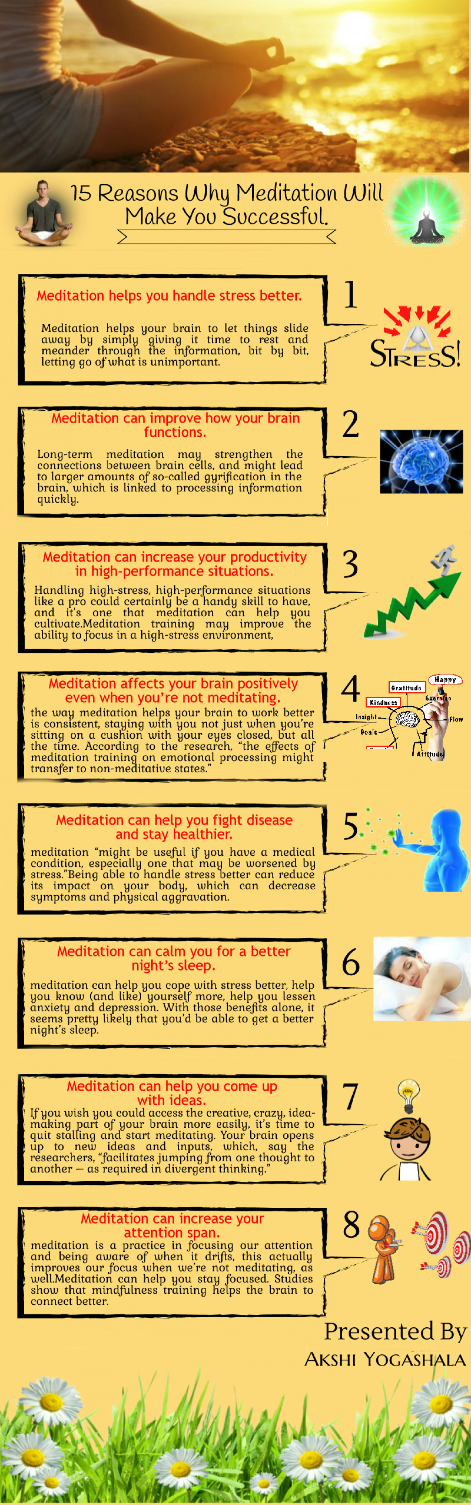 8 Reasons Why Meditation Will Make You Successful Infographic