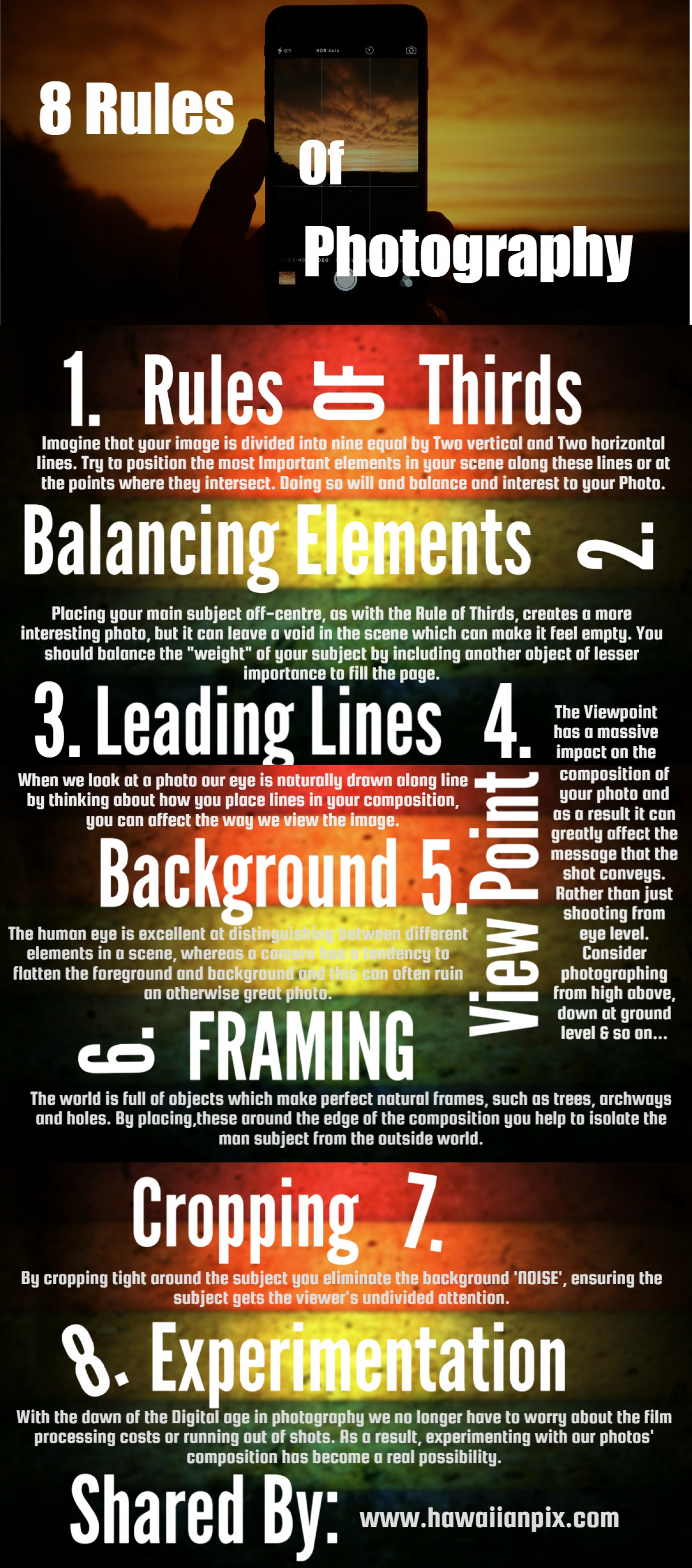 8 Rules of Photography Infographic