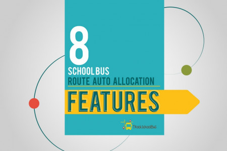 8 School Bus Route Auto Allocation Features Infographic